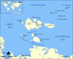 island on map bolshoy lyakhovsky island