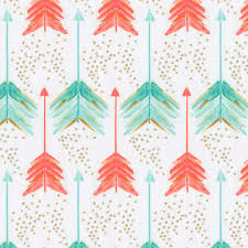 coral and teal arrows crib sheet carousel designs