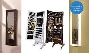wall mirror jewelry cabinet btexpert wall mount over the door wooden jewelry armoire white in
