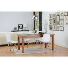 White Plastic Kitchen Chairs - eiffel side chair set of 2 wood base eiffel chair ezmod furniture