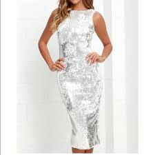 silver new years dresses lulu s dresses skirts white silver sequin below knee new years