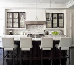 Canadian Kitchen Cabinets Dark Trim On Kitchen Cabinetry Decoist Black Glass Cabinets