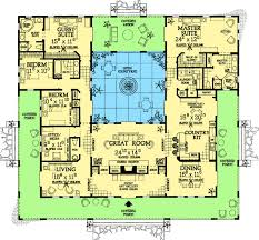 house plans with courtyards plan 81384w open courtyard home plan mediterranean house