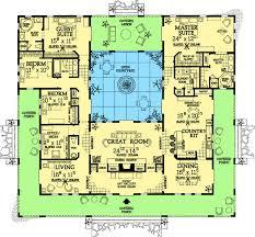southwest floor plans plan 81384w open courtyard home plan mediterranean house