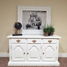 white upcycled buffet