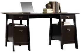 Trestle Computer Desk Sauder Stockbridge Executive Trestle Desk In Jamocha Wood