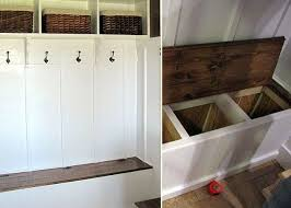 Boot Bench With Storage Entry Bench With Storage Diy Storage Decorations