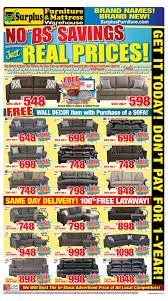 surplus furniture kitchener surplus furniture and mattress warehouse canada flyers