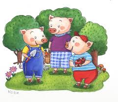 pigs scene 2 atelier 絵夢 drawings