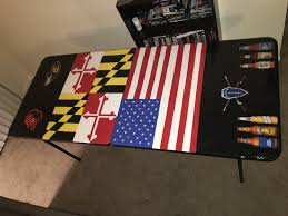 A Beer Pong Table Painted With Acrylic Paint Process Was To - Beer pong table designs