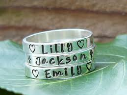 stackable engraved rings i want this just names stacking name rings name rings