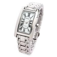 silver bracelet watches images Silver bracelet geneva rectangle face women 39 s watch showtime jpg