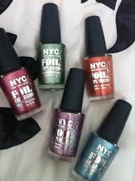 nyc foil explosion nail polish the glamour