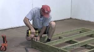 How To Build A Shed Out Of Scrap Wood by How To Build A Shed Part 1 Building The Floor Youtube