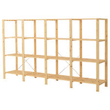 hejne 4 section shelving unit ikea