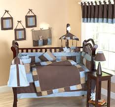 cowboy baby crib bedding soho blue and brown modern cowboy baby