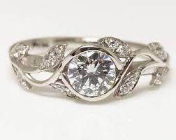 engagement rings flower design flower design ring etsy