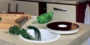 accessoire plan de travail cuisine vide déchets dans sac encastrable dans plan de travail msb3001 jpg