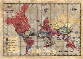 Countries Visited Map Age Of Internet Empires One Map With Each Country U0027s Favorite