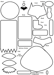 Batman Belt Coloring Pages | education boy and girl learning tool batman template and felting