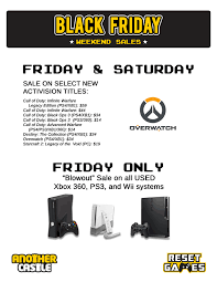 black friday ps3 black friday sales another castle video games