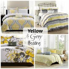 Grey And Yellow Comforters Yellow And Grey Bedding