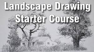 online art class intro to landscape drawing paint basket tv