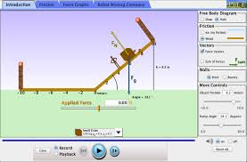 ramp forces and motion force position velocity phet