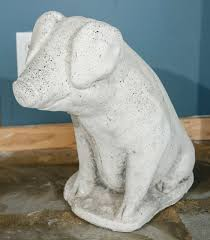 cast stone pig garden ornament for sale at 1stdibs