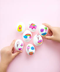 Decorating Easter Eggs With Nail Polish hello wonderful cute easter egg sticker art with free