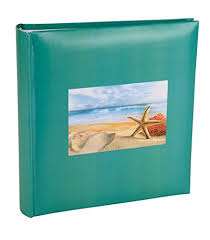 photo album with memo space aqua starfish photo album with memo writing space holds 200