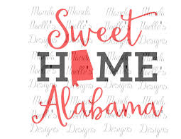 Instant Home Design Download by Sweet Home Alabama State Svg Or Silhouette Instant Download