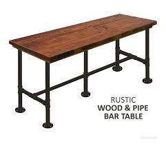 rustic bar table sosfund regarding tables ideas sunset trading 7