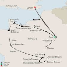 Normandy France Map France Tour Package With Paris Globus