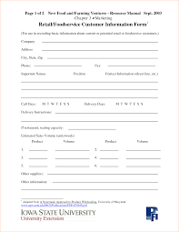 Client Information Sheet Template Template Information