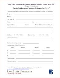 Salon Client Information Sheet Template Template Information