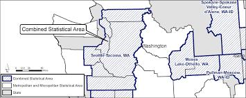 Map Of Spokane Washington Geography Atlas Combined Statistical Areas Geography U S