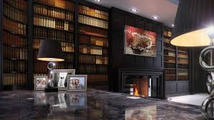 high bookcase contemporary oak walnut metro deco clive