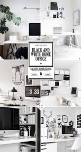 the 3 steps to creating a black and white home office design