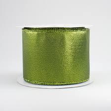 metallic ribbon 2 5 metallic ribbon lime green 10 yards rg0114633