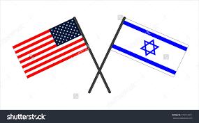 Flag Of Israel Flag Usa Flag Israel Isoladed Background Stock Vector 770173471