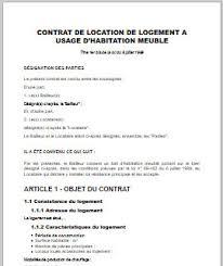 location chambre meublee contrat de location chambre meublee pour meubl immobilier en image