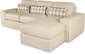 Lay Z Boy Sofa Two Piece Modern Sectional Sofa With Architectural Lines And Raf