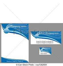 eps vector of contemporary letterhead contemporary business
