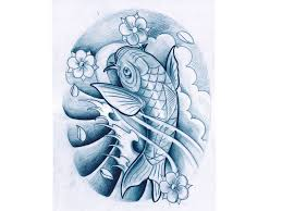 koi fish waves and lotus tattoo design photo 2 photo pictures