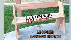 Simple Wooden Park Bench Plans by How To Build A Quick And Easy Garden Bench In Under 2 Hours For