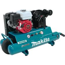 5 5 hp portable gas powered twin stack air compressor
