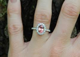 padparadscha sapphire engagement ring of the week padparadscha sapphire ring pricescope