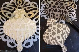 diy scrapbook paper tree ornaments