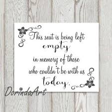 wedding memorial sign memorial sign print remembrance printable from dorindaart on etsy